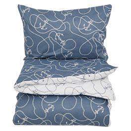 Brendasund sengesett blå-hvit