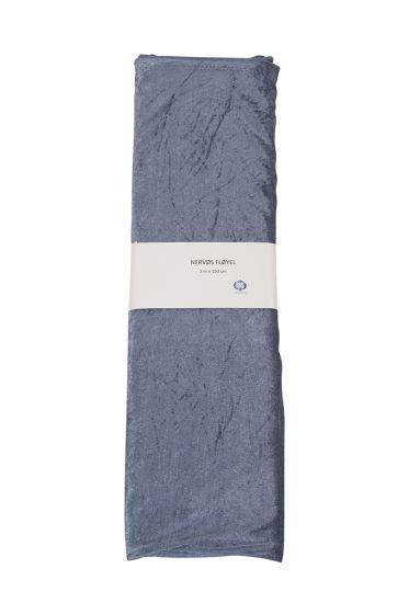 Dekke nervøs fløyel 3m x 150cm blå