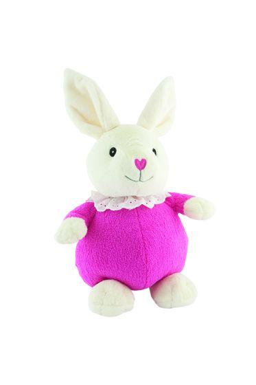 Frøken Kanin 25cm kjente fra Karsten og Petra hvit med rosa kjole