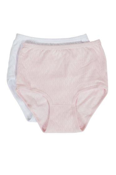 Ann maxitruser 2pk rosa og hvit
