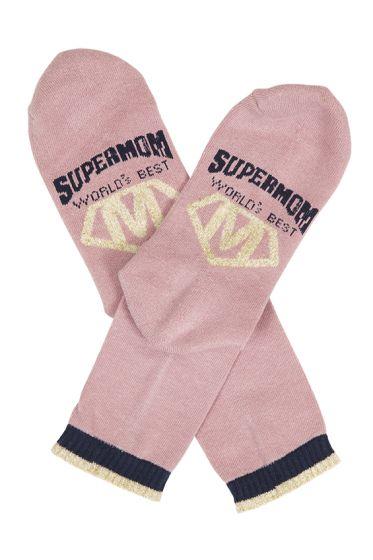 Basic mom supermom sokker rosa