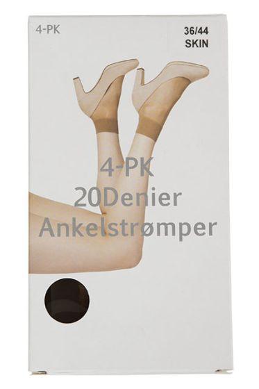 Basic ankelstrømper 4pk sort