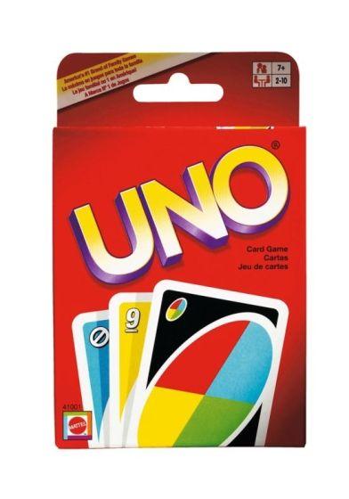 Uno spilles med spisiallagde kort. original